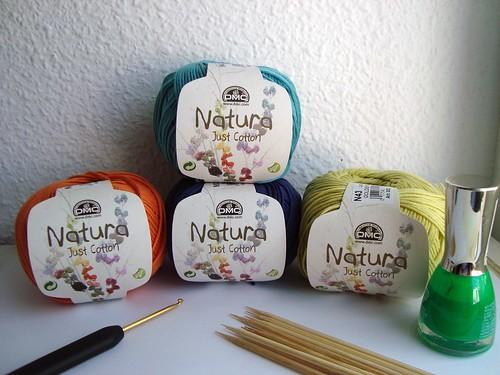 Materiales para mariposas de crochet