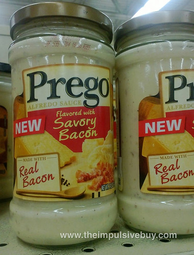 Prego Alfredo Sauce flavored with Savory Bacon
