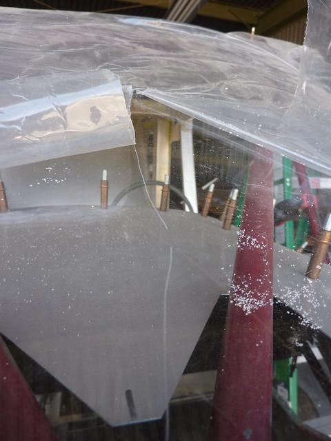 Scratch in windshield