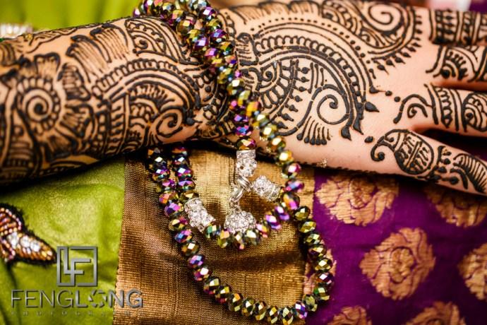 Close up of henna details
