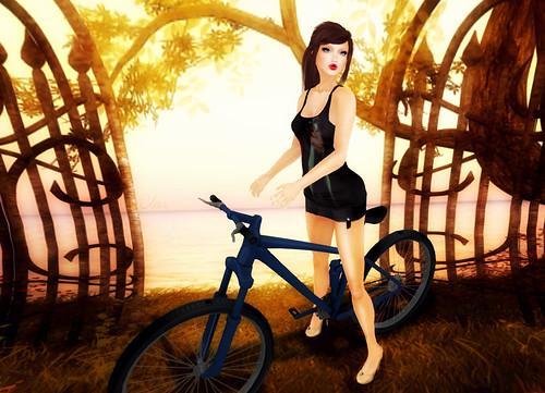 [AB] Mesh Bad Witch Top + Mini Skirt Black