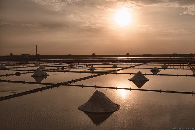 Salt Fields, Tainan, sunset