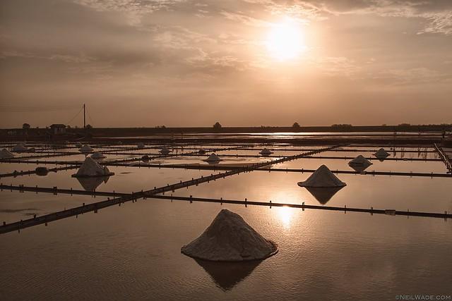 Salt Fields, Tainan, sunset