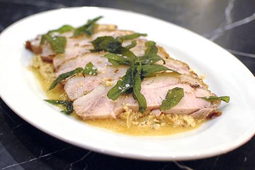 pork loin plated