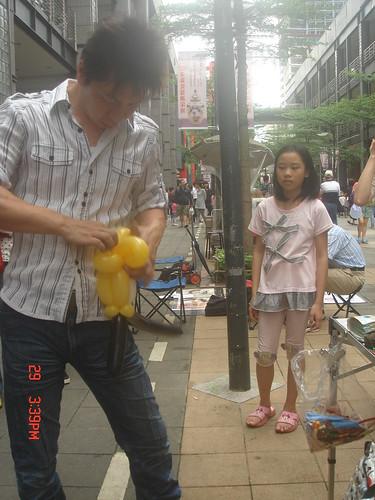氣球造型編織_街頭藝人3