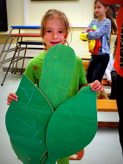 Millie as a leaf