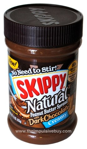 Skippy Natural Peanut Butter Spread with Dark Chocolate