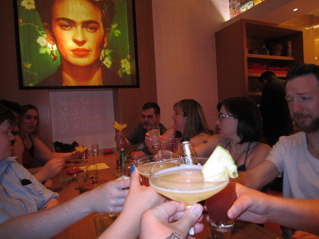 Birthday toast with Frida