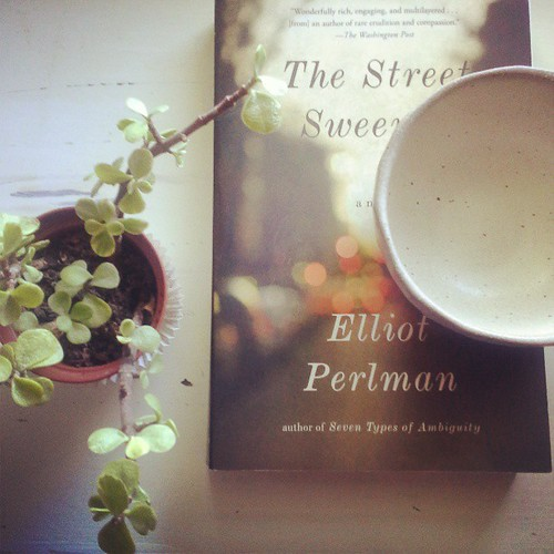 Happy weekend, my friends! #books #cups #thestreetsweeper #elliotperlman