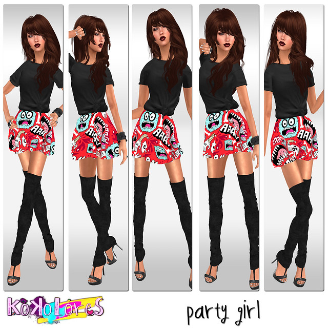 [KoKoLoReS]{party girl}poses