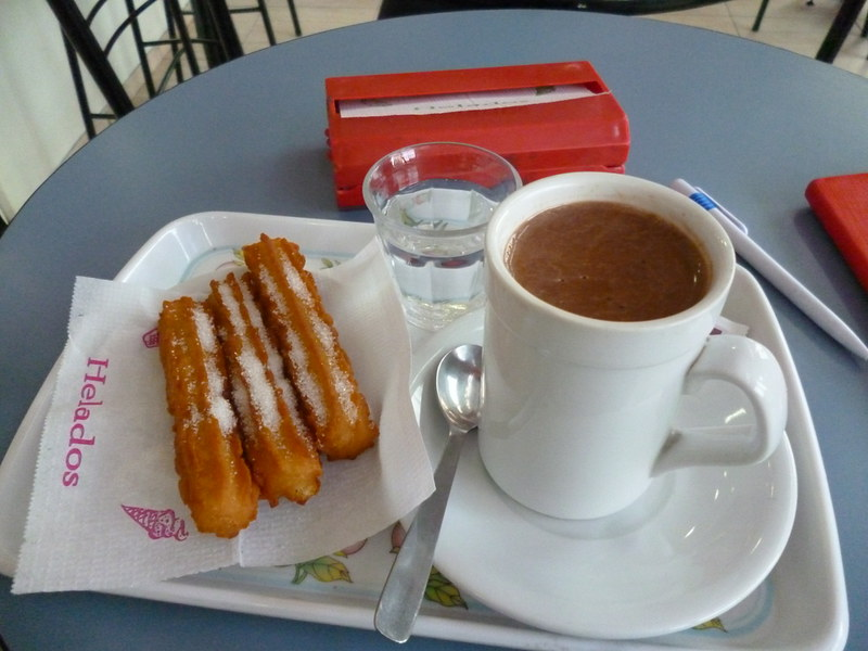 Churros with hot chocolate