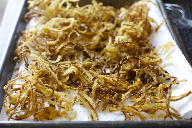 so many crispy onions; you'll have double this