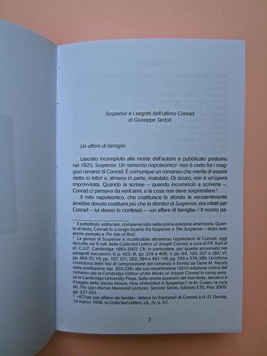Joseph Conrad, Suspence. il canneto editore 2013. progetto grafico di Paroledavendere, Art Director: Camilla Salvago Raggi. Incipit della Prefazione (part.), 1