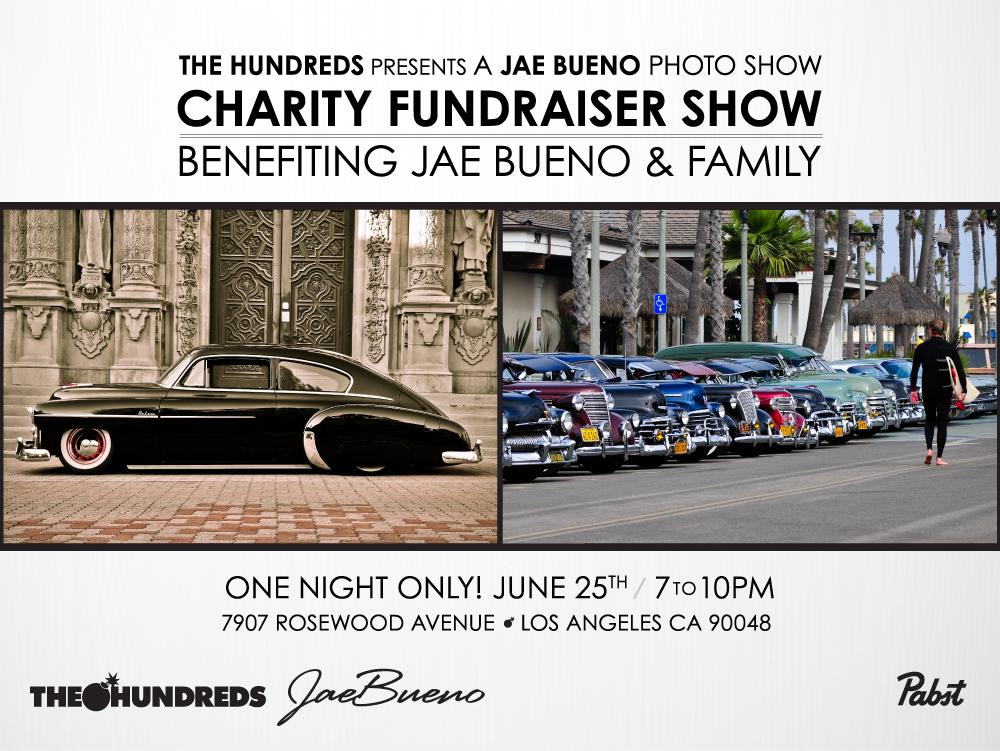 The Hundreds x Jae Bueno Benefit Show - Web Flyer