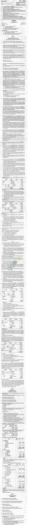 CBSE Board Exam 2013 Class XII Question Paper -Accountancy