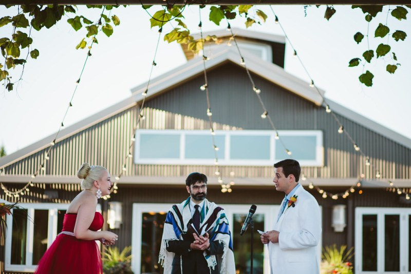 Laughing at his vows
