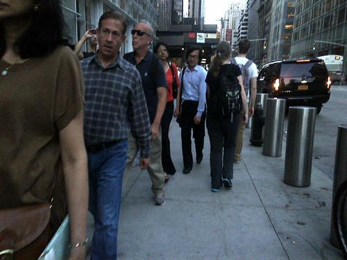 Walking up 6th Avenue