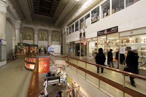 Retail stores retrofitted into the Central Pavilion
