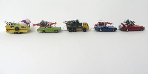 Vintage Matchbox ornament convoy