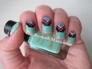 bookish manicurist mint triangle