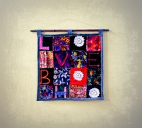 Boho Wall Hanging Velvet Patchwork Fabric Wall Art ...