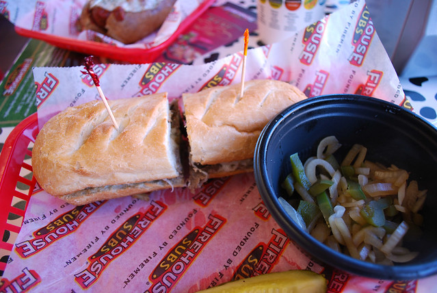 Firehouse steak and cheese
