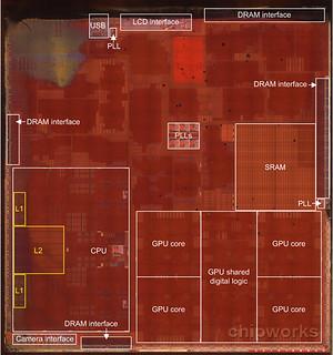 ภายในของ CPU A7 ของ iPhone 5s