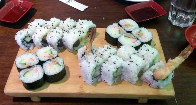 Sushi at Obento, Bristol