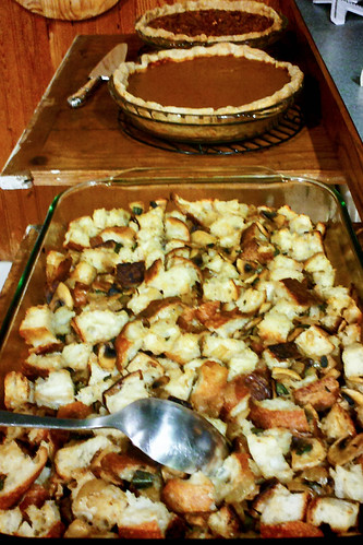 stuffing and pies