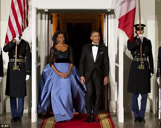 Michelle Obama Carolina Herrera Gown