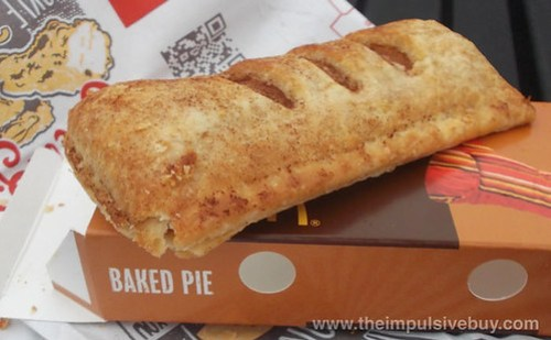 McDonald's Baked Sweet Potato Pie Scored Top
