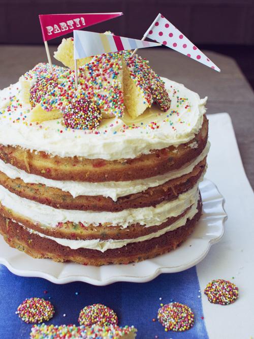 Fairy Bread Funfetti Cake