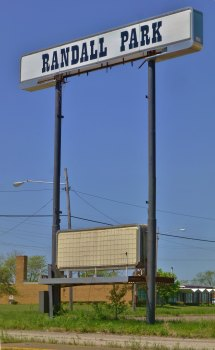 Randall Park Mall Miles Road Sign