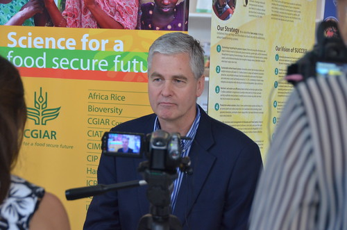 Frank Rijsberman, CEO of the CGIAR Consortium, is interviewed at AASW6