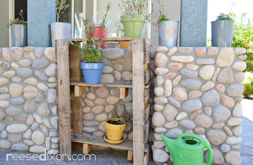 Plant Stand Made from Recycled Pallets