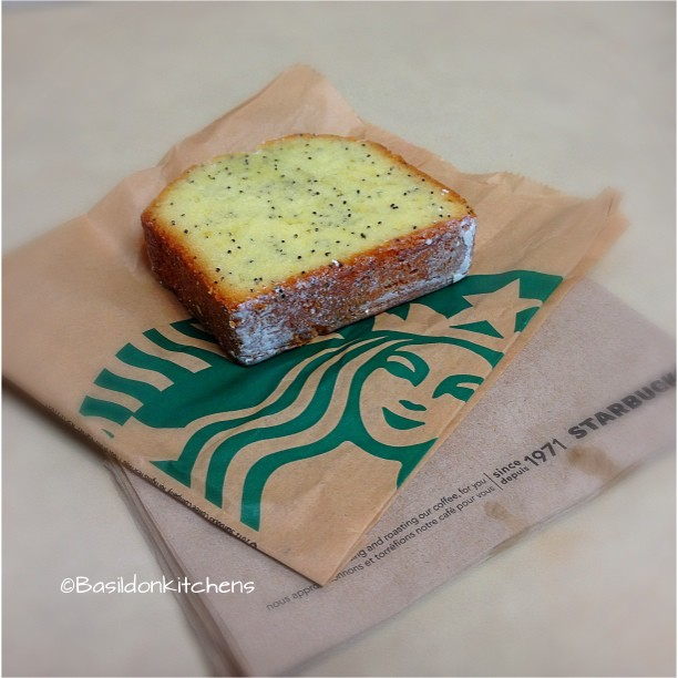 Sep 10 - sweet {after a nasty ride in to work, I need a sweet pick-me-up!} #fmsphotoaday #sweet #starbucks #lemonpoppyseedloaf #titlefx #yummy