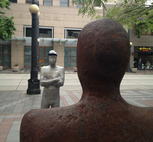 Downtown sculptures by Christopher OKeefe