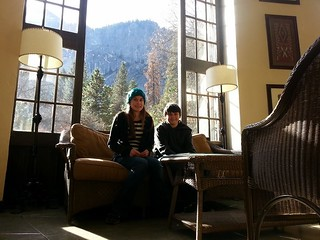 Isabel and Tony at the Ahwahnee Hotel in Yosemite.