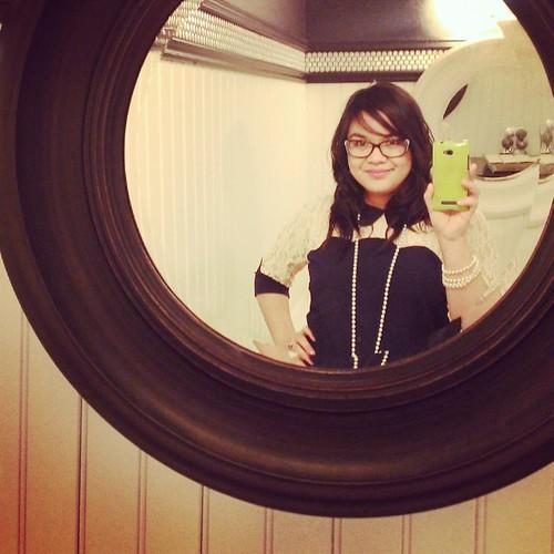 First ever bathroom selfie from last night. #notatrashybarbathroom #classysunriversgolfresortyo