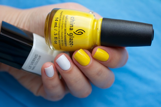 06 Chanel Eastern Light + China Glaze Happy Go Lucky