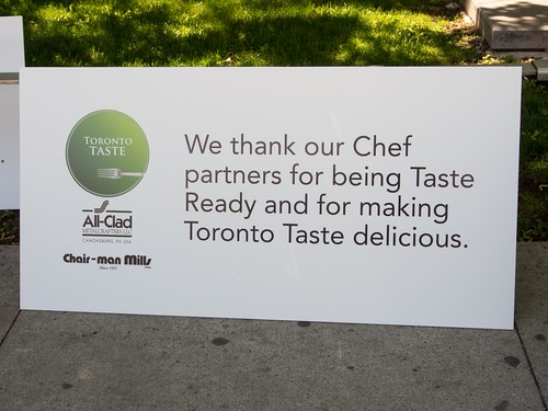 Toronto Taste 2013 Chef Thanks