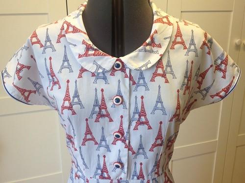 Eiffel Tower Butterick 7504 bodice