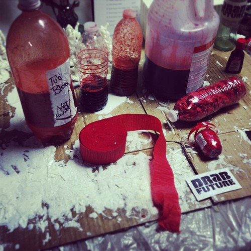 Prepping blood packs for a side project, Shark Blood Explosion!