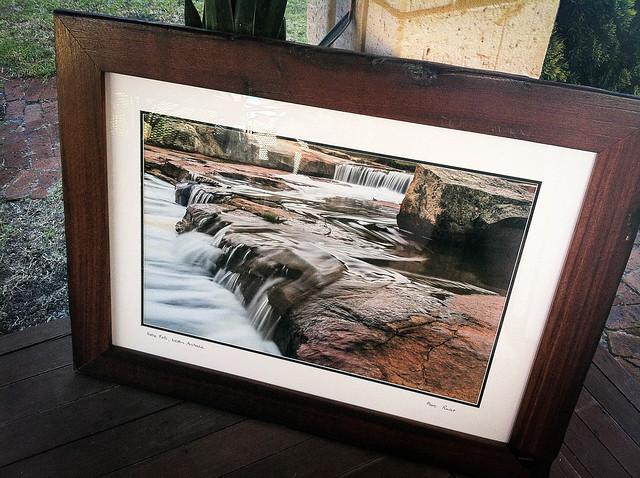 Noble falls framed in Jarrah