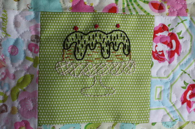 Embroidered Cake Potholder