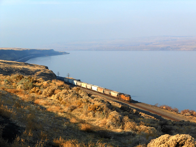 Columbia River Gorge and Trains.