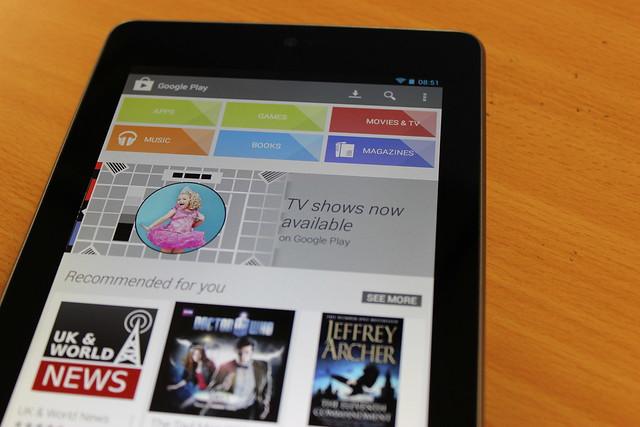 Google Play on a Nexus 7