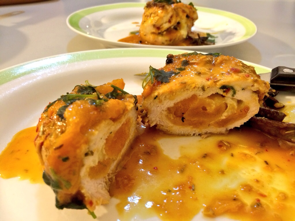 Apricot-Orange-Camembert Chicken