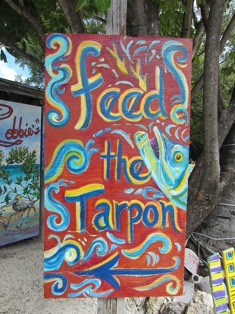 Tarpon Sign at Robbie's Marina