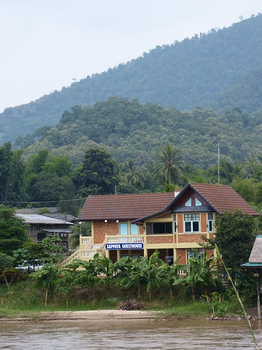 our guesthouse from across the river